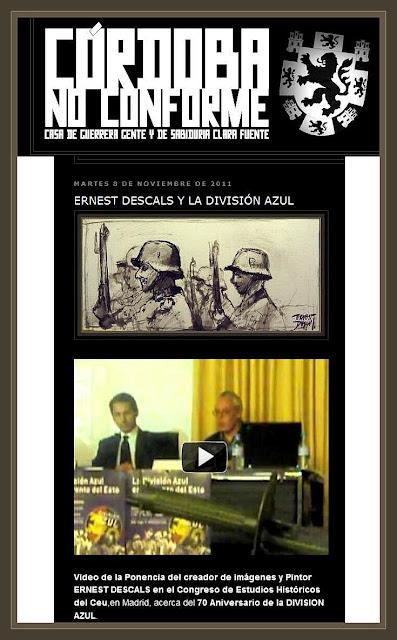 DIVISION AZUL-ARTE-PINTURA-CONGRESO-ERNEST DESCALS-CORDOBA NO CONFORME-