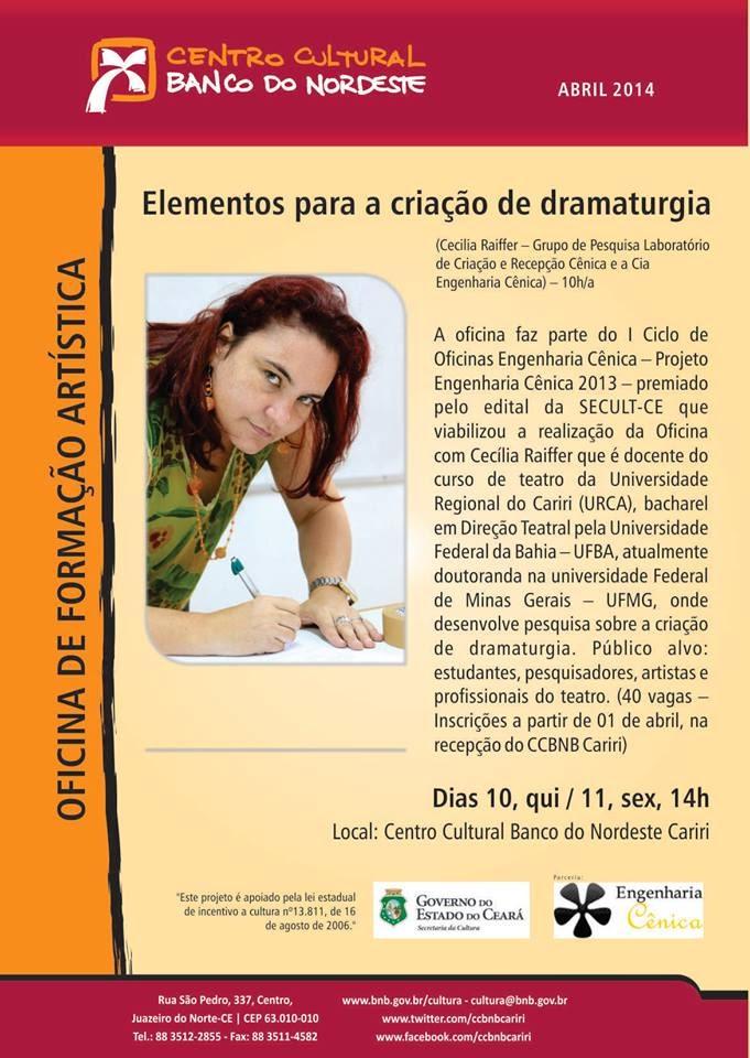 O berro oficina 39 elementos para a cria o de dramaturgia for Elementos para oficina