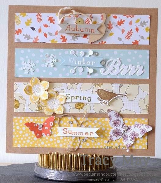 stampin up uk independent demonstrator Tracy May card making ideas DSP