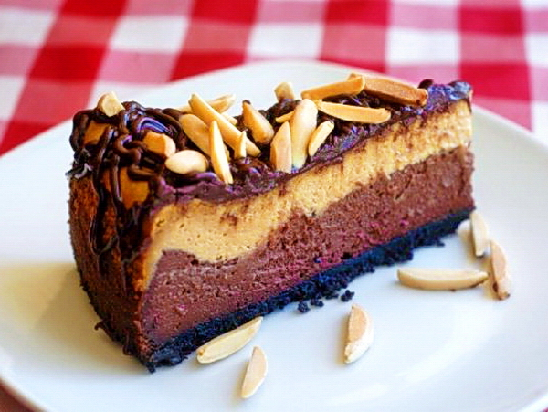 Almond Mocha Fudge Cheesecake