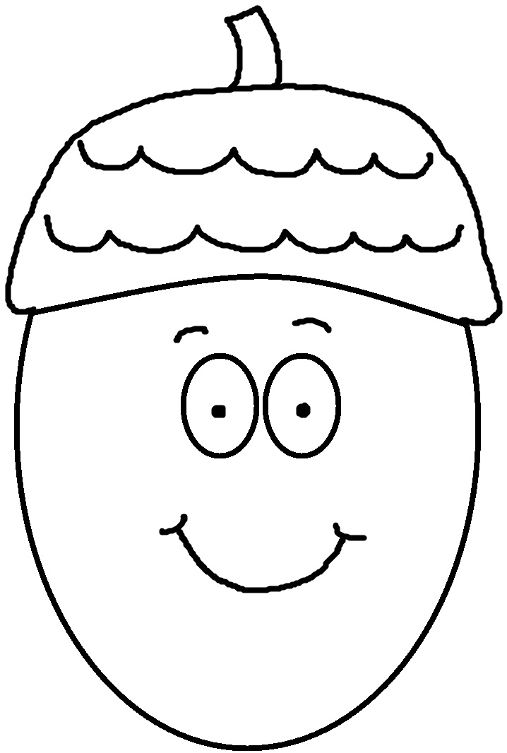 Church house collection blog free acorn clipart acorn for Acorn coloring page