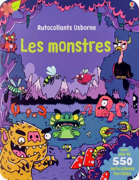 Les monstres - Autocollants Usborne, de Kirsteen Rogers et Seb Burnett