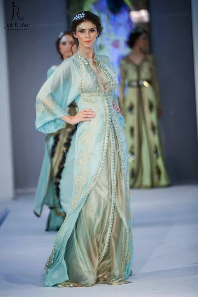 Haute couture : Caftan bleu ciel | New Caftans