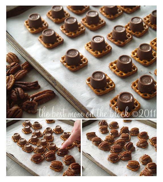 chocolate caramel pretzel bites waffle pretzels rolos or other ...