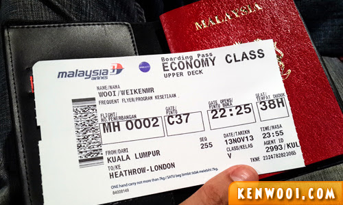 mas flight ticket