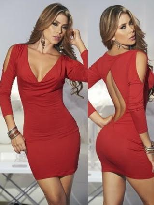 Mini Dress on Open Back Red Mini Dress   Womenify