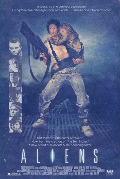Aliens movie poster 1986