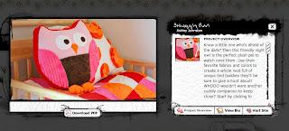 Snuggly Owl Cushion Pattern