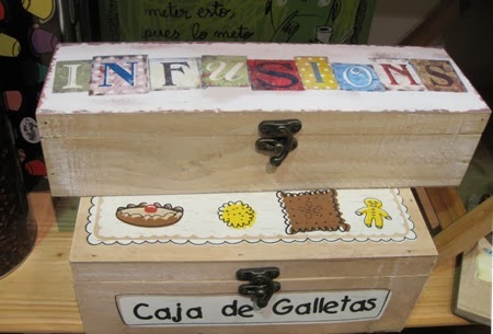 Cajas de madera para infusiones y galletas