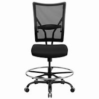 Armless Big and Tall Drafting Chair