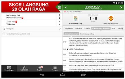 Aplikasi Software Jadwal Skor Olahraga Terbaru (Flashscore) 2015 pada Android dan IOs