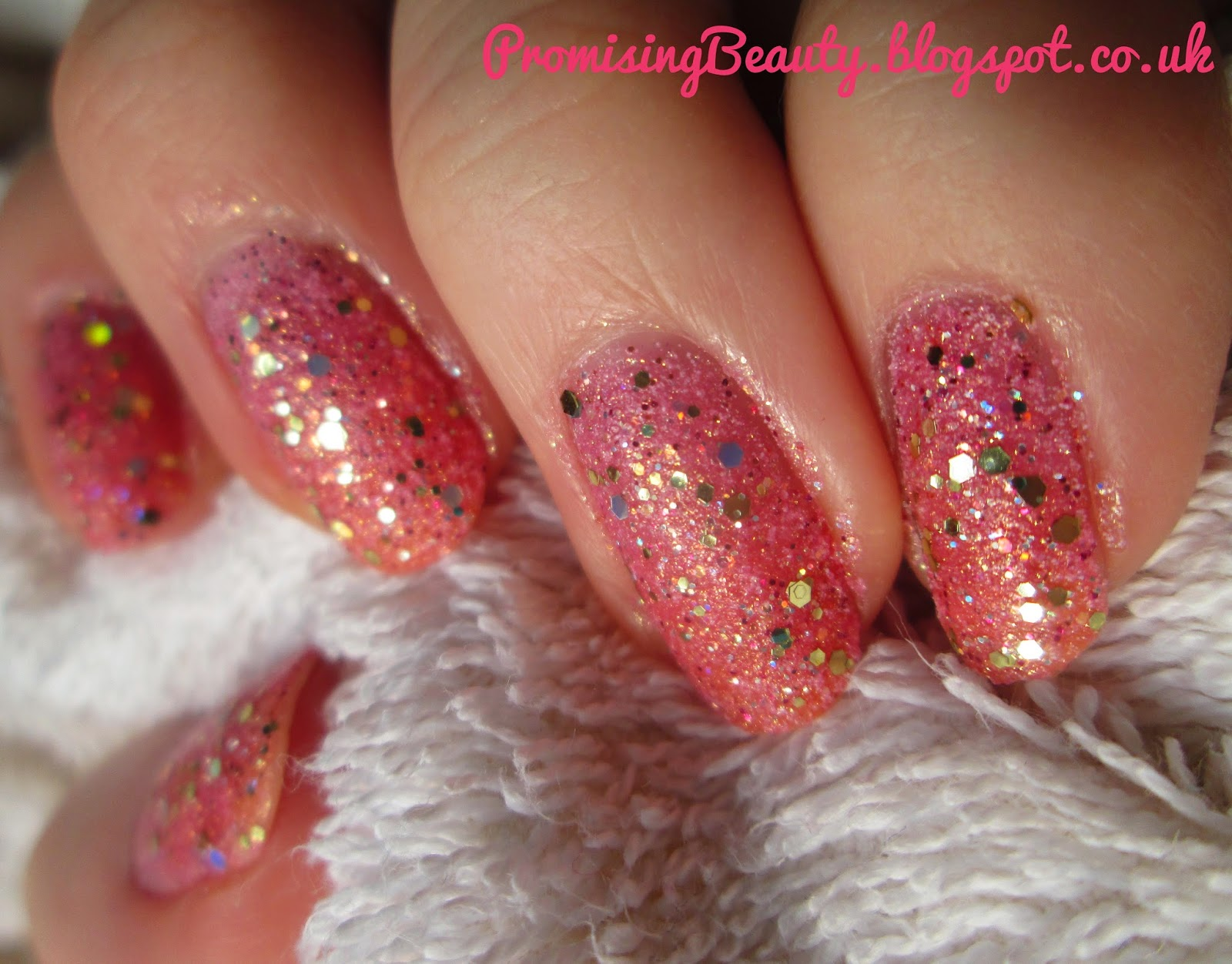 Promising Beauty Pink Champagne Nails