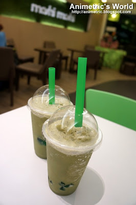 Green Tea Shake at Moshi Moshi in Katipunan