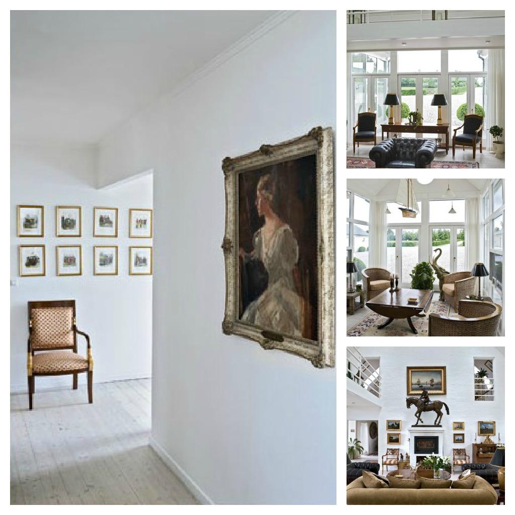 Il Giardino Di Fasti Floreali: Stile Inglese In Danimarca #5E4C38 1024 1024 Sala Da Pranzo Stile Industriale