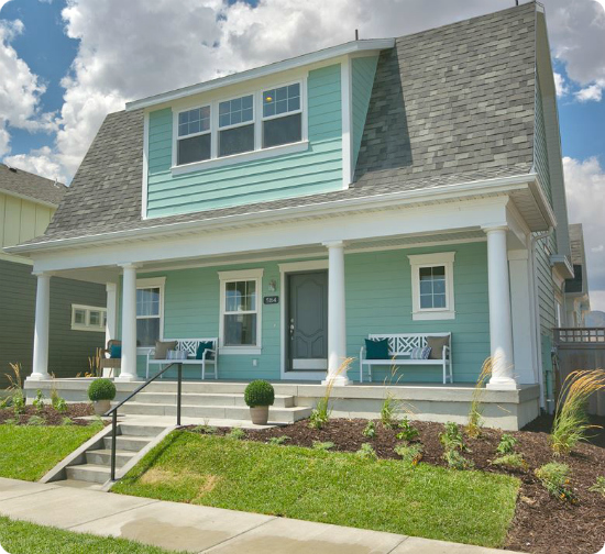 aqua barn style home in SLC parade of homes