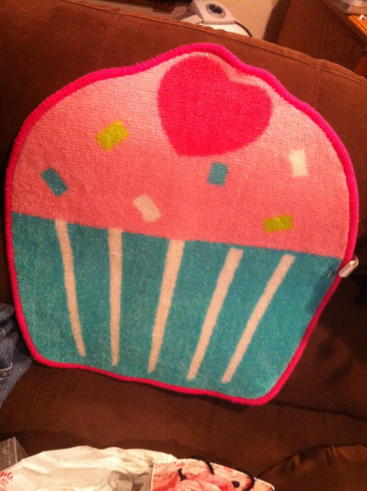 Target Dollar Section Cupcake Rug