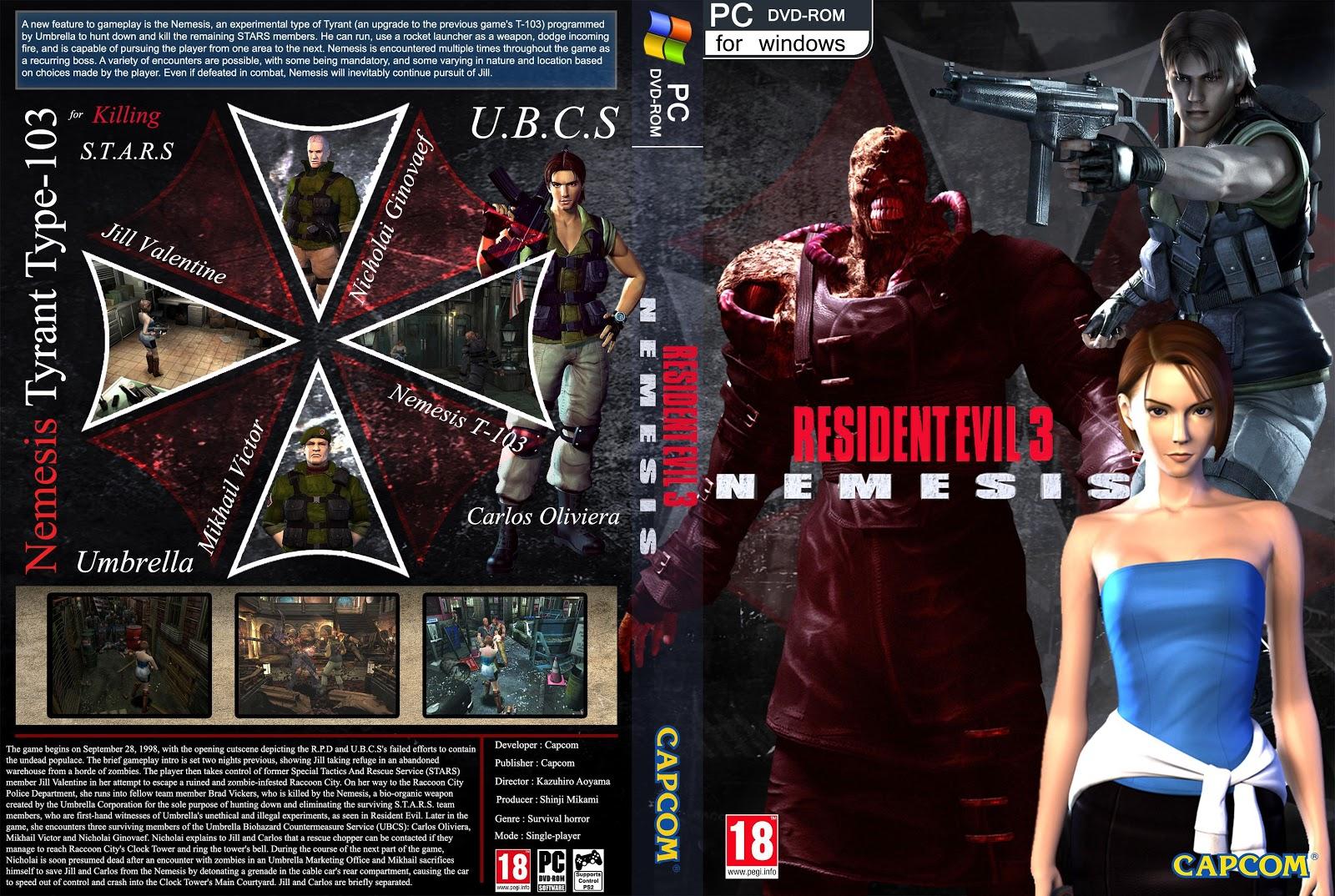 Capa Resident Evil 3 Nemesis PC