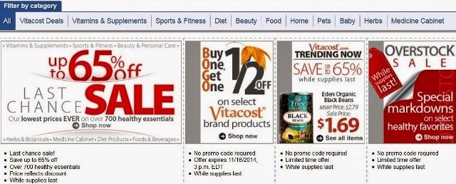 vitacost online shopping bargains