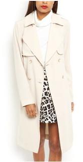 Manteau trench coat pas cher New Look beige pastel automne-hiver