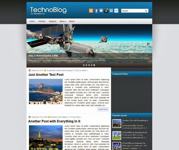 TechnoBlog Free WordPress Theme