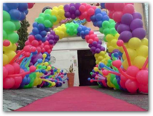 Decorar con globos fiestas infantiles for Decoracion simple con globos