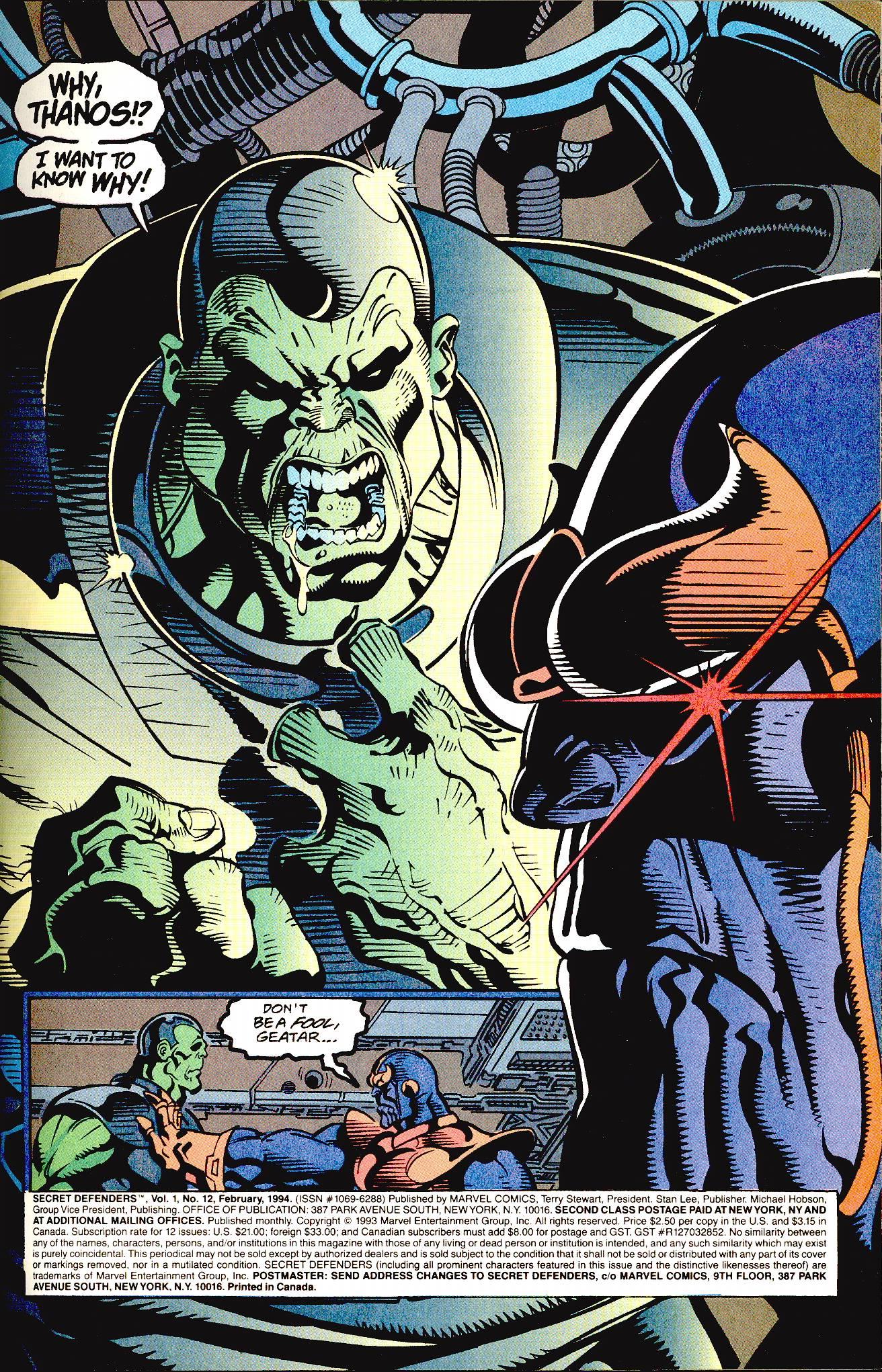 Read online Secret Defenders comic -  Issue #12 - 2