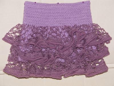 Вязание юбки с воланами для девочки крючком