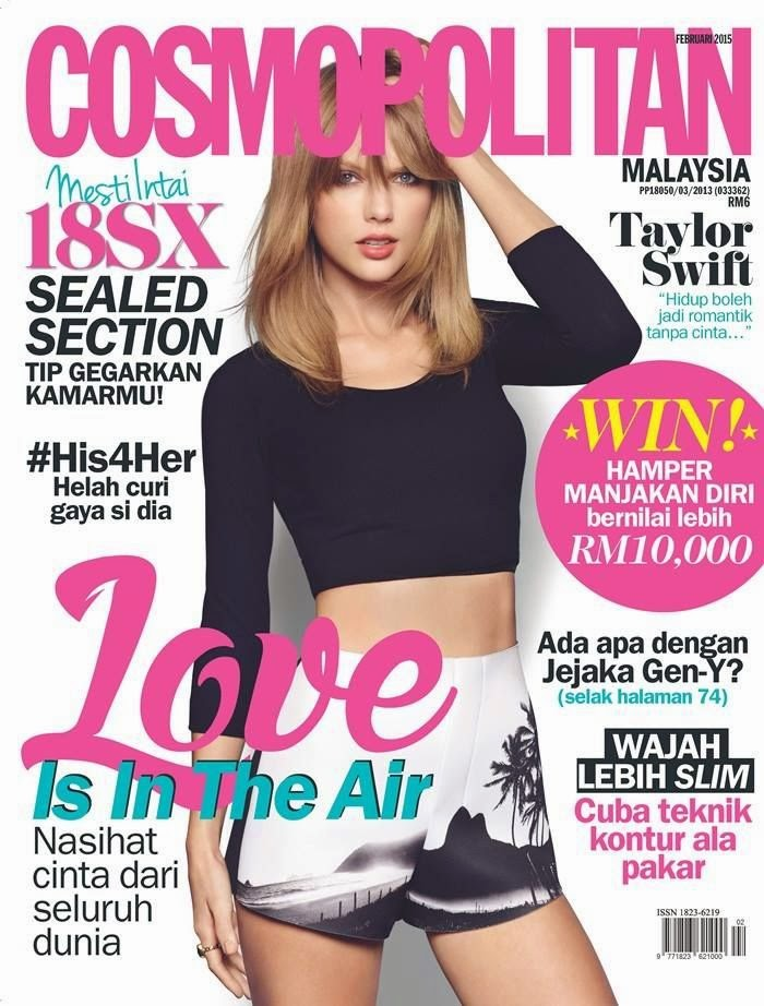 Singer-Songwriter: Taylor Swift - Cosmopolitan, Malaysia, February 2015