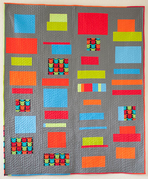 Quilt Patterns Using Squares And Rectangles : Little Bluebell: Finished Quilt: Squares and Rectangles