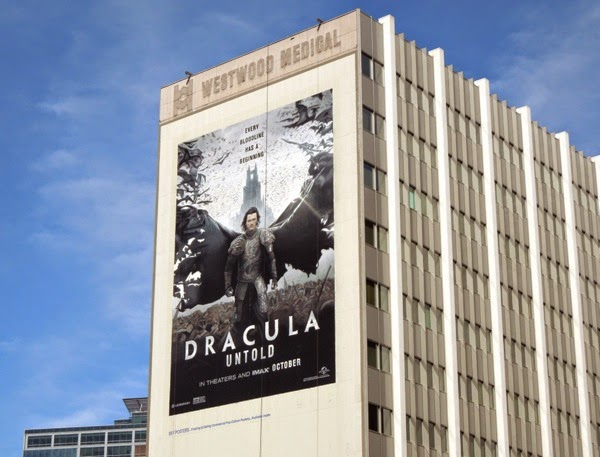 Giant Dracula Untold movie billboard