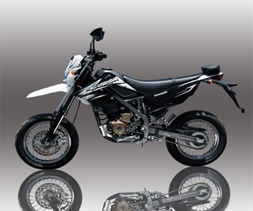Kawasaki D-Tracker 150 dipersenjatai dengan mesin 150cc, 4-Langkah ...
