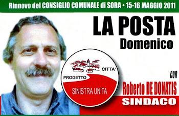 Alle elezioni comunali del 15 e 16 maggio a Sora Vota e scrivi La Posta sulla scheda