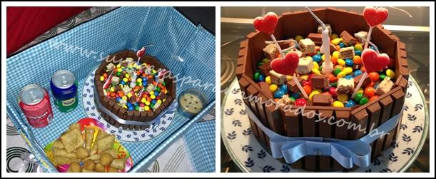 festa na caixa bolo kit kat