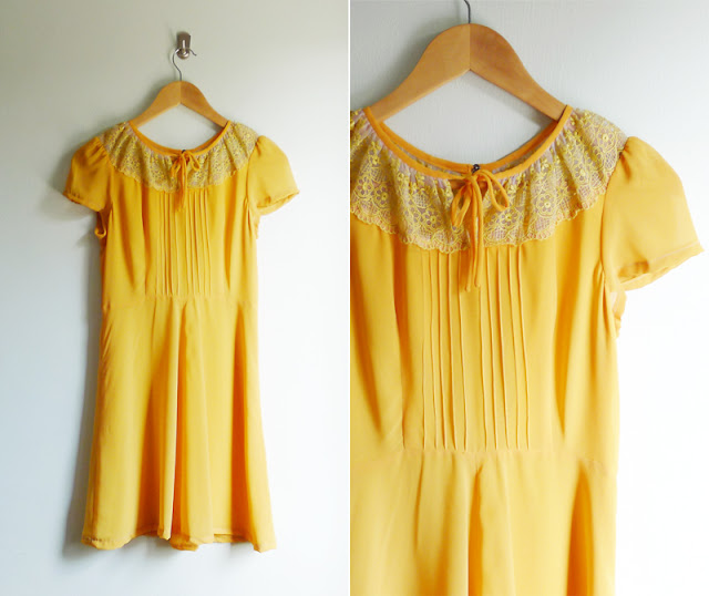 vintage sheer lace dress