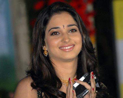 Actress Tamanna in black Saree Photos