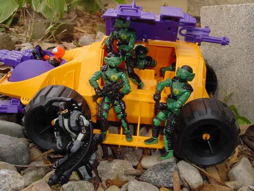 2001 Fast Blast Viper, Funskool Night Viper, 1993 Nitro Viper, 1992 Parasite