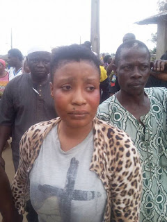MUSLIM CLERIC CAUGHT WHILE TRYING TO USE THIS LADY FOR RITUAL IN BADAGRY