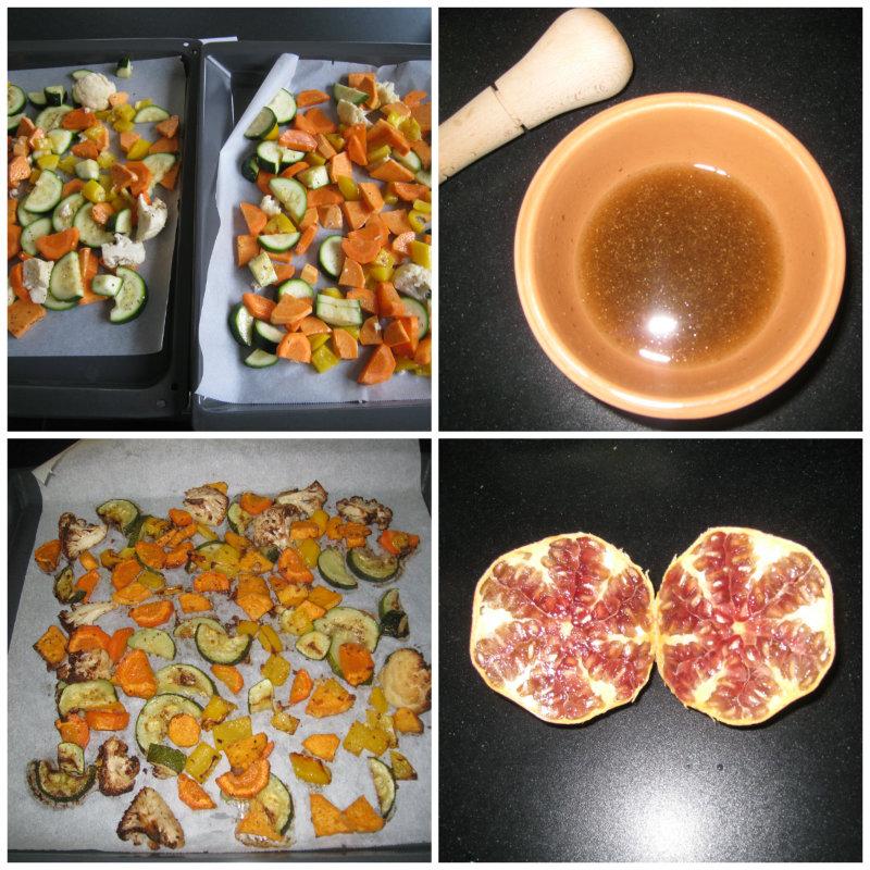 Groenten roosteren met kruidenolie