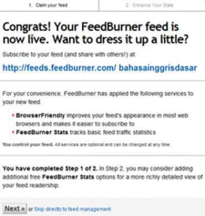 Cara Mendaftar dan Memasang Feedburner dengan Mudah