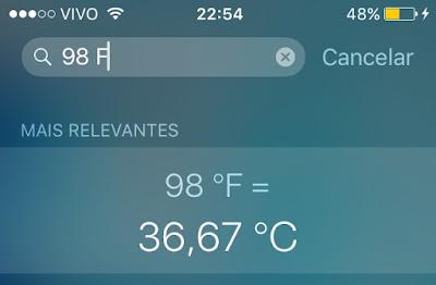 Conversão de temperatura - Siri