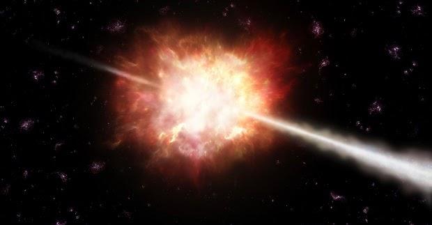 GRBs ejetam energia equivalente a 9.000 Supernovas