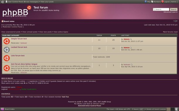 Free Abstract Dark Purple Phpbb3 Style Theme
