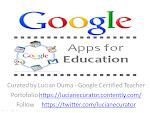 Lucian was selected Google Certified Teacher