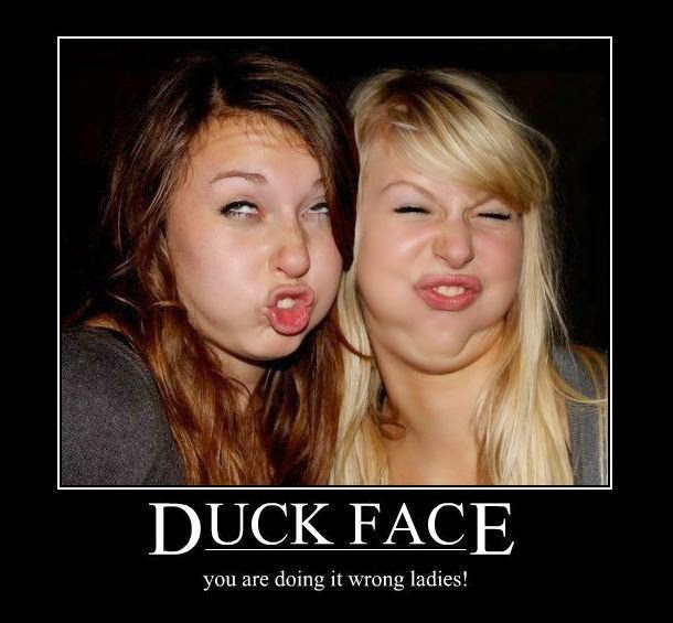 The duckface - an internet fad that has to stop