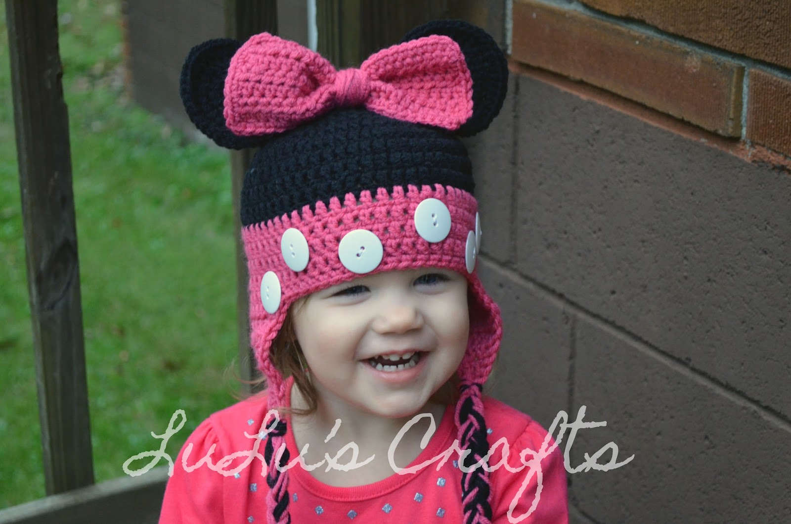 KBee Creations by LuLu: Minnie Mouse Toddler Hat