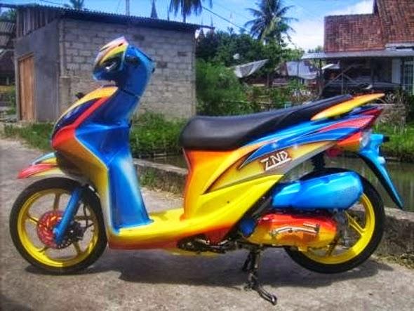Modifikasi Motor Honda Spacy Velg Jari-Jari Koleksi Gambar Keren