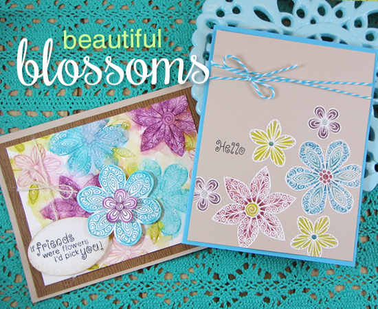 Flower Cards by Jennifer Jackson | Beautiful Blossoms stamp set by Newton's Nook Designs