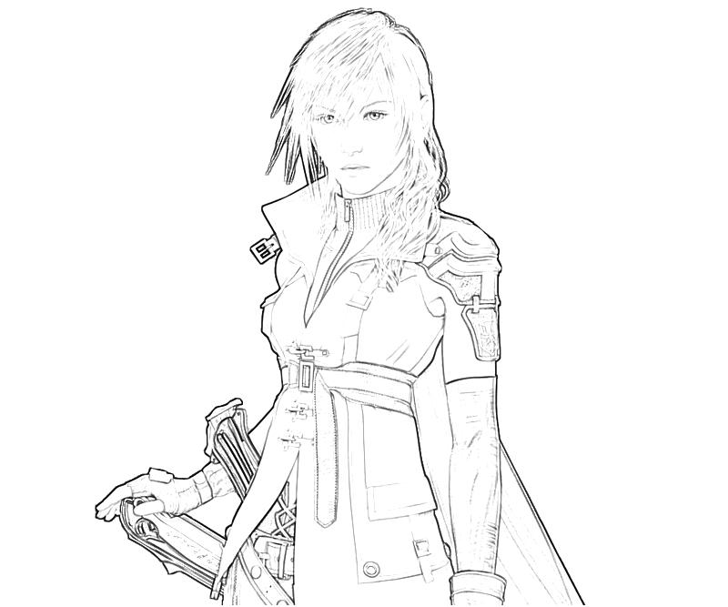 Home final fantasy xiii final fantasy xiii lightning for Final fantasy coloring pages