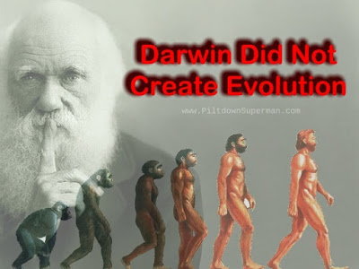 "Many people think that Darwin was a ""great scientist"" who came up with evolution. In reality, it is the stuff of ancient religious views and superstitions."