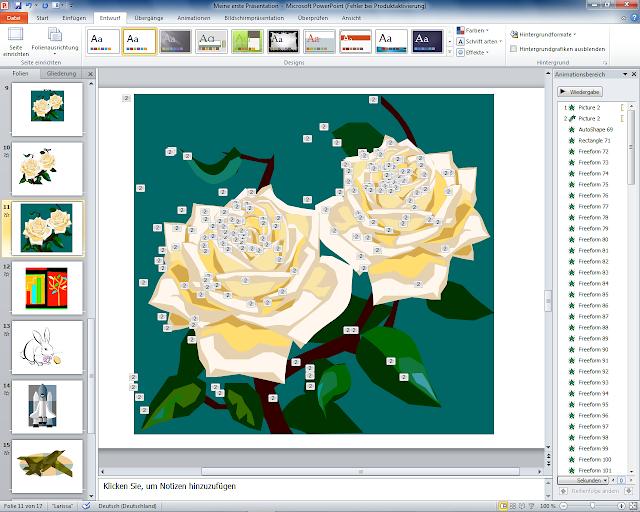 PowerPoint 2010 - ClipArt Rosen animiert